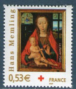 TIMBRE-3840-NEUF-XX-LUXE-CROIX-ROUGE-VIERGE-A-L-039-ENFANT-DE-HANS-MEMLING