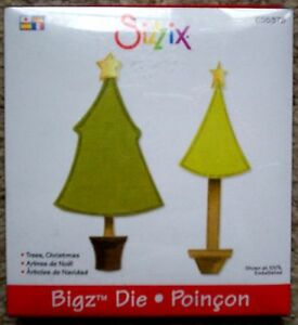 Sizzix Die Cutter  CHRISTMAS TREE Thinlits fits Big Shot Cuttlebug