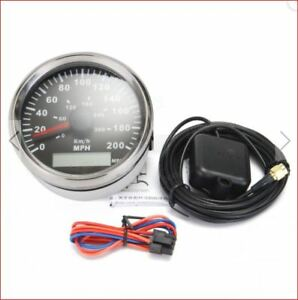 85mm-GPS-Compteur-300KPH-200MPH-Voiture-Camion-Moto-Carenage-Only-12v-amp
