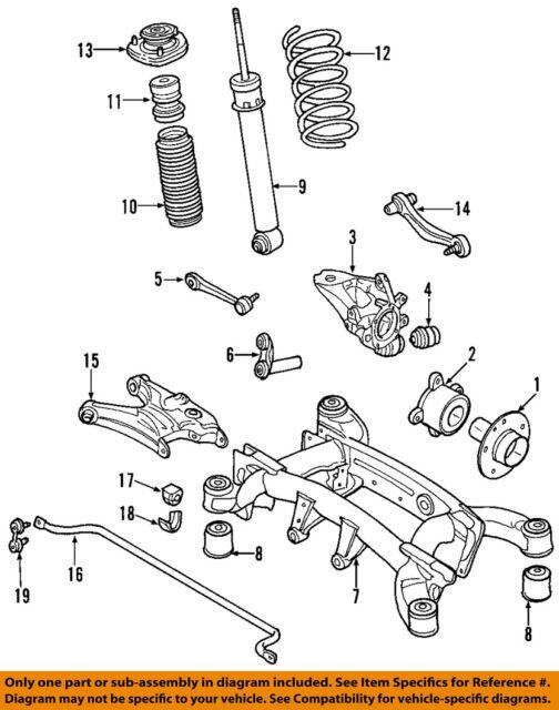 s l640 bmw e70 x5 rear suspension left shock absorber strut oem 33526782875