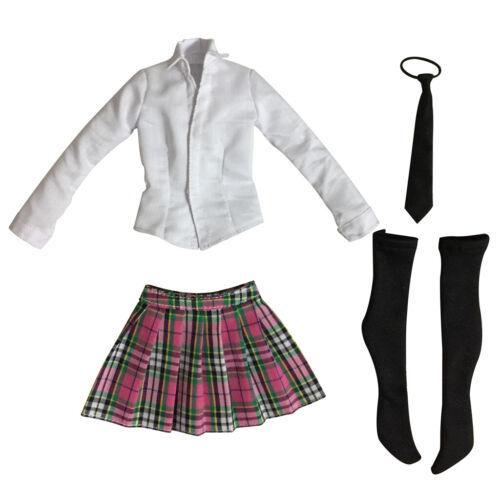 1//6 Female Clothes High School Girl Uniform Set 12/'/' Action Figure Accessories