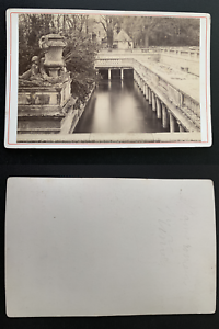 France-Nimes-les-Bains-Romains-Vintage-albumen-print-carte-cabinet-Tirage