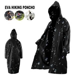 Le Donne Uomini Impermeabile Impermeabile Outdoor EVA Panno lungo cappotto di pioggia poncho con cappello