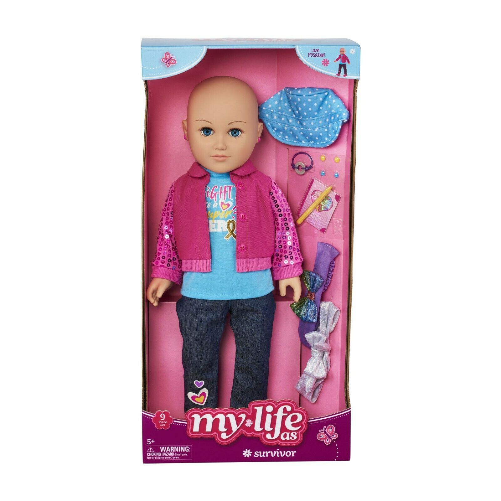 My Life As a SURVIVOR Caucasian Doll NEW IN BOX! 18in