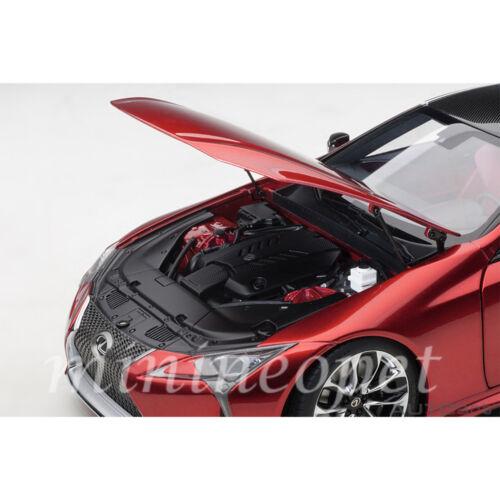 DARK ROSE INTERIOR AUTOart 78873 LEXUS LC 500 1//18 RADIANT RED METALLIC