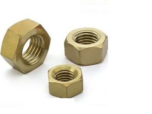 M5 //5mm SOLID BRASS METRIC HEX HEXAGON FULL NUTS FOR BOLTS /& SCREWS DIN 934