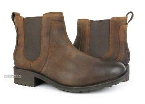 781e3337573 Details about UGG Bonham II Chipmunk Leather Fur Boots Womens Size 8 *NEW*
