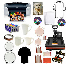 8in1Heat Press,Epson C88+,Cartridges,T-shirts,Mugs,Hat,Plate,iPhone,Samsung Case