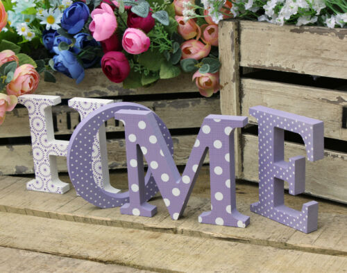 HOME Plaque Free Standing Wooden Letters Sign Home Decorative Ornaments GIFT New