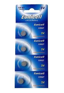 4-x-CR927-3V-Lithium-Knopfzelle-30-mAh-1-Blistercard-a-4-Batterien-Eunicell