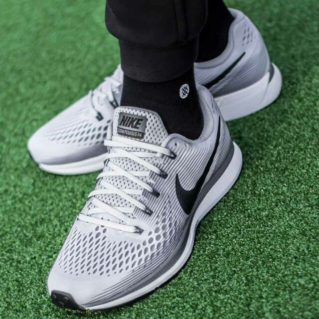 69a88e3a8d978 Nike Air Zoom Pegasus 34 Pure Platinum Anthracite Men Running Shoes ...