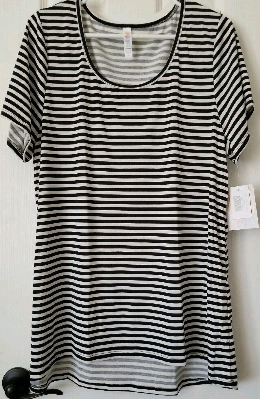 Lularoe schwarz & Weiß Stripes 2XL Classic T Striped Shirt 2X Hard to Find  NEW