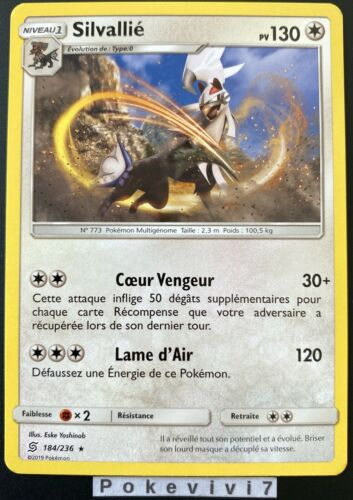 Carte Pokemon SILVALLIE 184//236 RARE Soleil et Lune 11 SL11 FR NEUF
