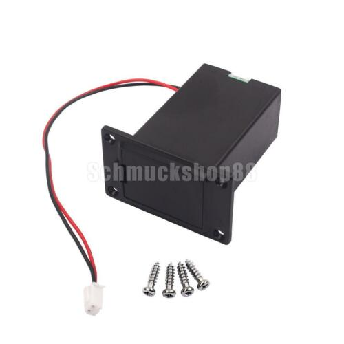 Flat Mount 9 Volt Batteriefach für Gitarre /& Bass /& Ukulele BLACK