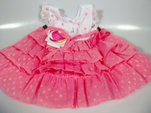 Youngland Baby Girl Pink /& White Tier Dress /& Leggings Set 12 /& 24 Months NWT