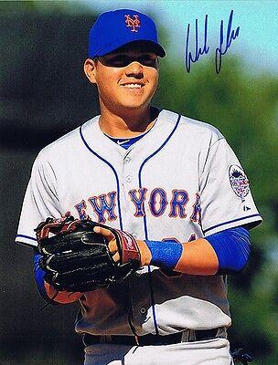 W//COA NY Mets Diamondbacks Wilmer Flores Signed Autographed 8x10 Rookie Photo