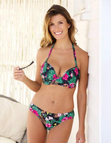 Bravissimo Ipanema Tankini Top Or Bikini Top Black Floral 95