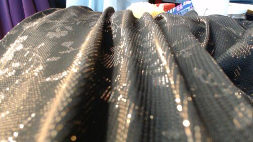 2m10 stretch width way formal knit, shiny sparkle gold black x1m5 w