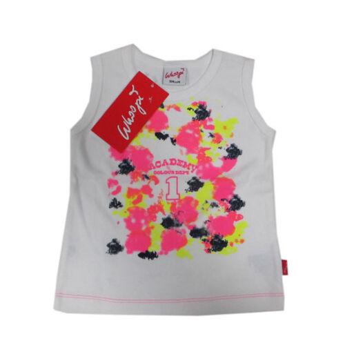 Whoopi shirt SANS BRAS T-shirt top blanc coton fille taille 98,104,110,116