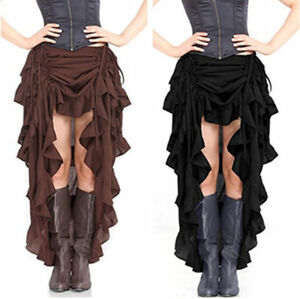 deb40f8b57359 Image is loading Women-Gothic-Victorian-Steampunk-Skirt-Long-Mermaid-Maxi-