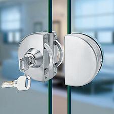 New Stainless Steel 10mm-12mm Glass Door Lock Double Swing Hinged Frameless Door