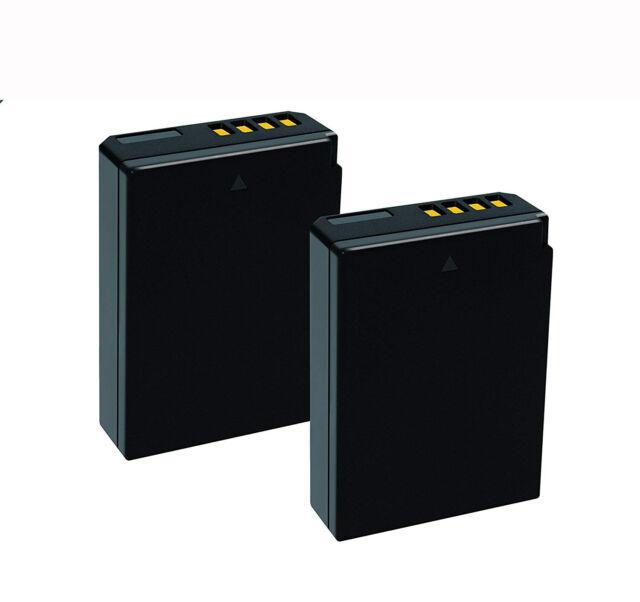 2-Pack 1850mAh LP-E10 Battery for Canon EOS 1300D 1200D 1100D 2000D T3 T5 T6 etc