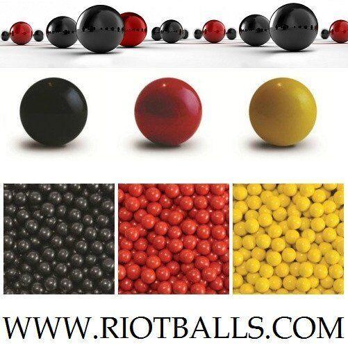 500 X 0.68 Cal. Riot Balls Self Defense PVC/Nylon Practice Paintballs ROT