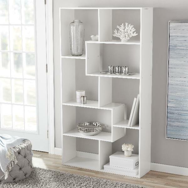 White Bookshelf 2 Shelf Openwork Desk Organizer Diy Wooden And Plastic Desktop For Sale Online Ebay