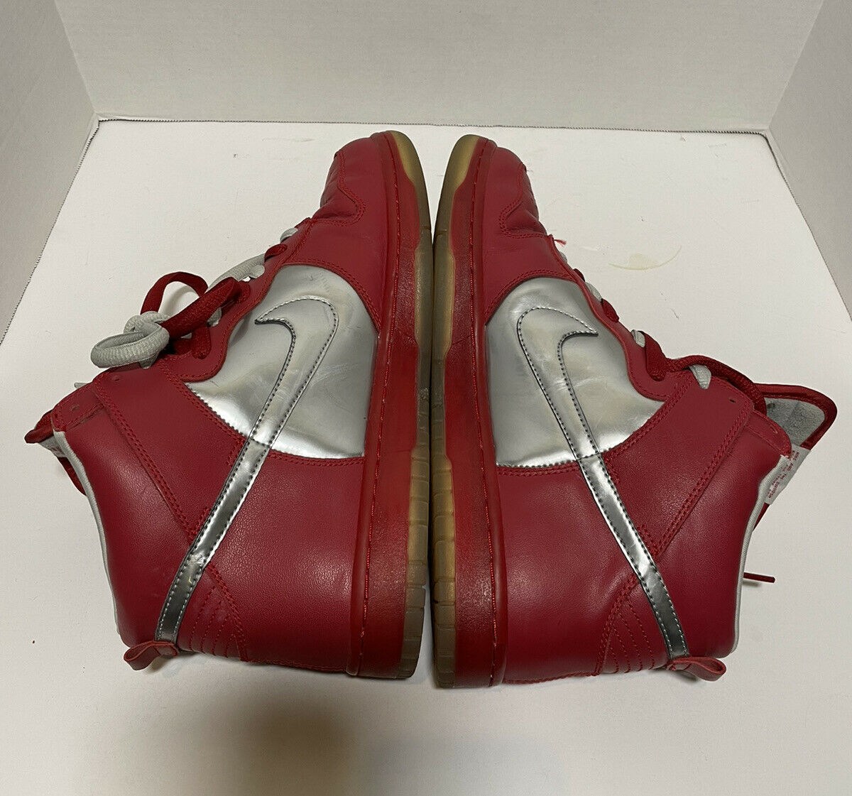 2006 Nike Mork And Mindy SB Dunk High Red/silver … - image 7