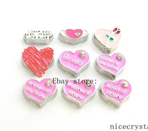 10pcs Mix Wedding series Floating charms For Glass Memory Locket Free shipping