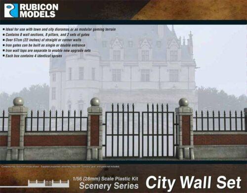 Rubicon 283003 Stadt Wände 1//56 Maßstab 28mm