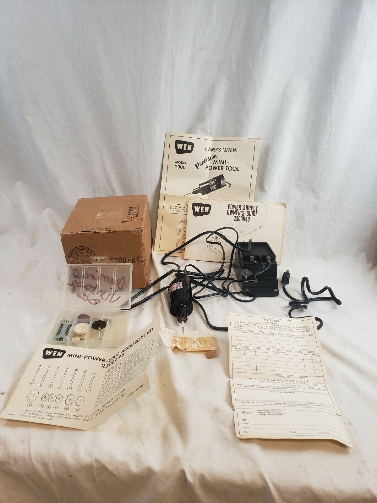 WEN Power Supply 2300B40 Precision Mini Power Tool 2300 A45 Accessory Kit Works