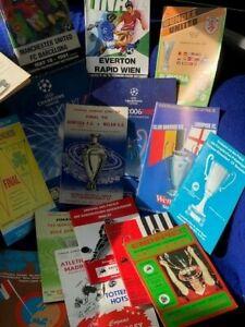 17 DIFF EUROPEAN CLUB FINALS 1962-2008  YOU CHOOSE