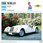 MORGAN PLUS 8 1968 à nos jours CAR GREAT BRITAIN GRANDE BRETAGNE CARD FICHE