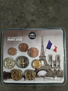 Mini Set BU France 2018 Ville PARIS TOUR EIFFEL 1ct à 2€ Neuf 500 ex MDP