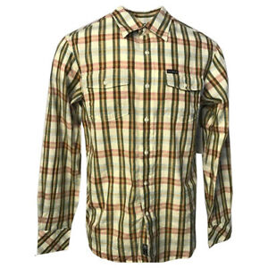 Rocawear-Men-039-s-Linen-Blend-Vanilla-Checked-L-S-Woven-Shirt-Retail-50