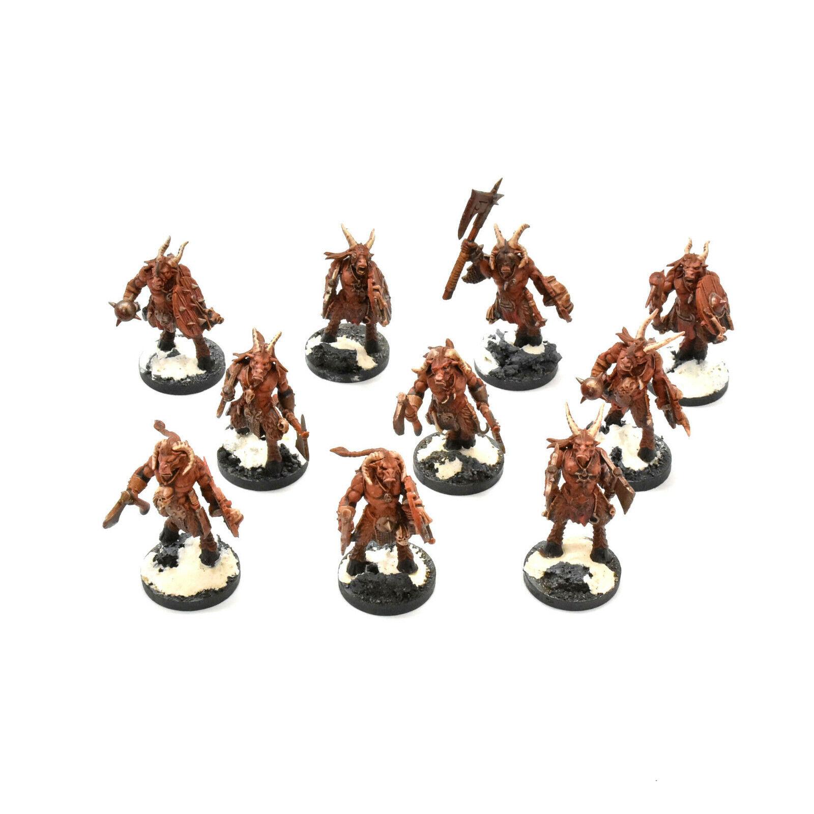 BEASTS OF CHAOS 10 gors herd  2 Warhammer Sigmar BeastSie gor