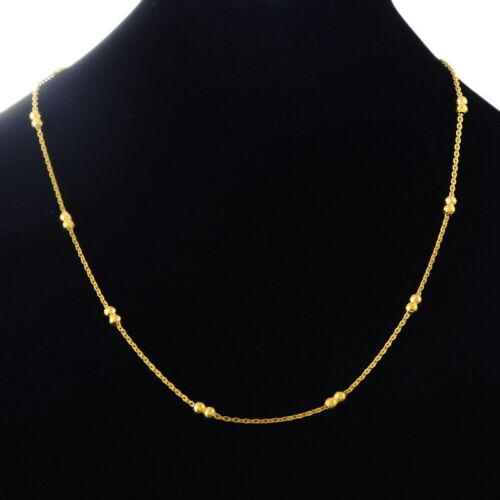 5PC Fashion Stainless Steel Cross Chain Gold Plated Necklace 49.9cm