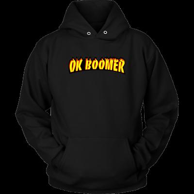 Funny Millennial Meme Trend Trend Ok Boomer Flames Parody Hoodie Sweater Shirt