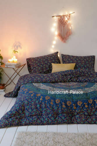 Twin Size Duvet Cover Throw Quilt Indian Mandala Doona Cover Bohemian Blanket