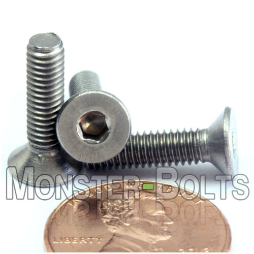 DIN 7991 Allen Hex M4-0.70 x 20mm Stainless Steel Flat Head Socket Cap Screws
