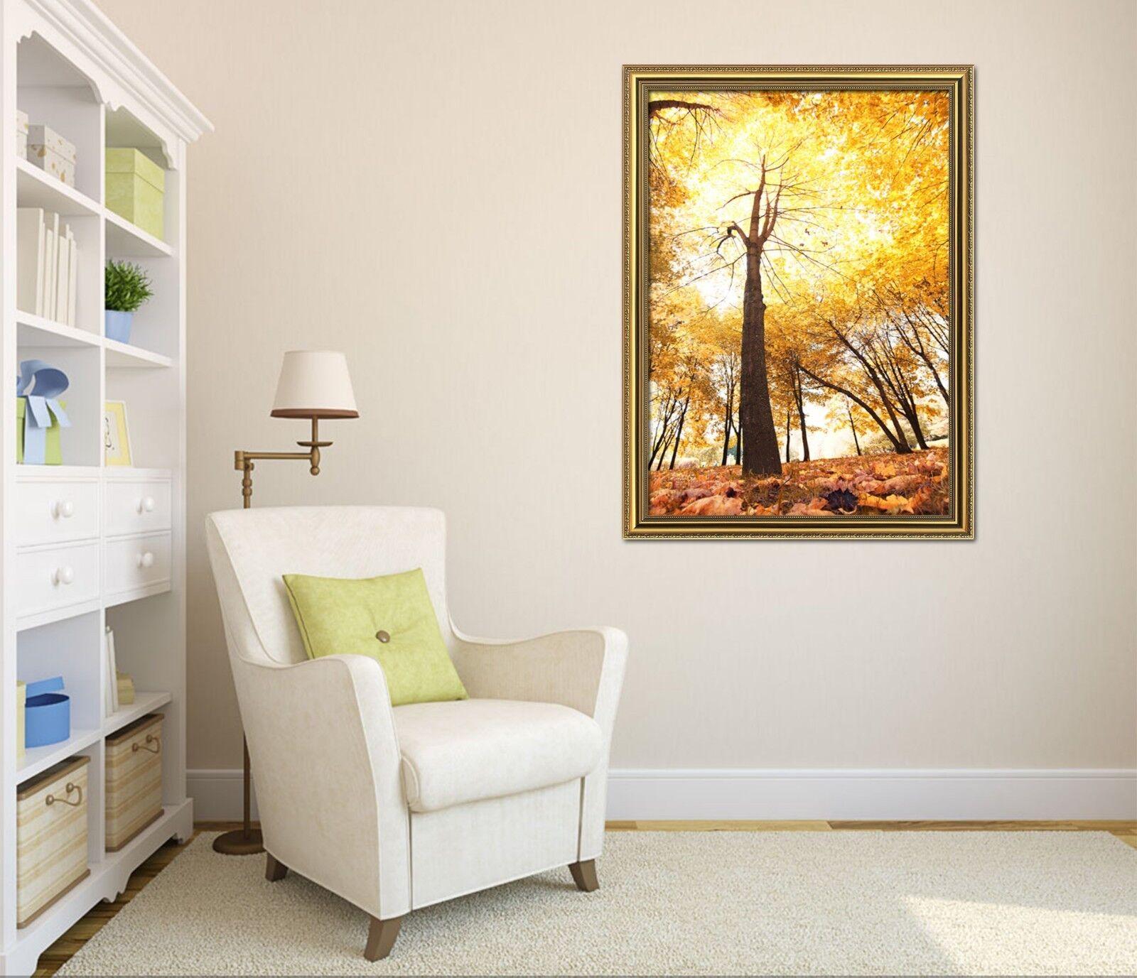 3D golden Tree 685 Fake Framed Poster Home Decor Print Painting Unique Art