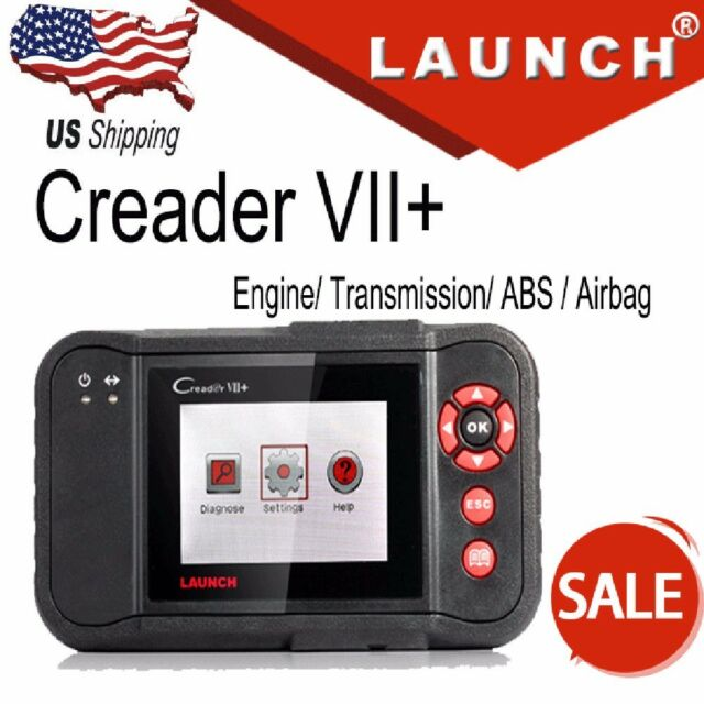 Launch Creader VII+ Code Reader Diagnostic Tool Transmission ABS SRS Engine
