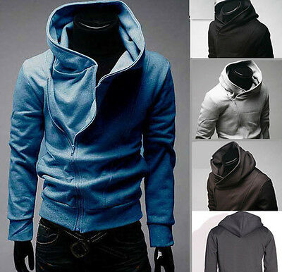 Mens Slim Fit Sexy Top Designed Hoodies Jackets Coats 4Color 5Size