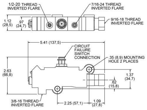Proportioning valve bleeder tool for PV2// PV4