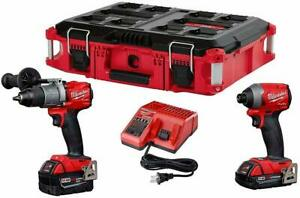 Milwaukee-M18-Fuel-2997-22CXPOC-Brushless-Hammer-Drill-amp-Impact-Driver-PACKOUT