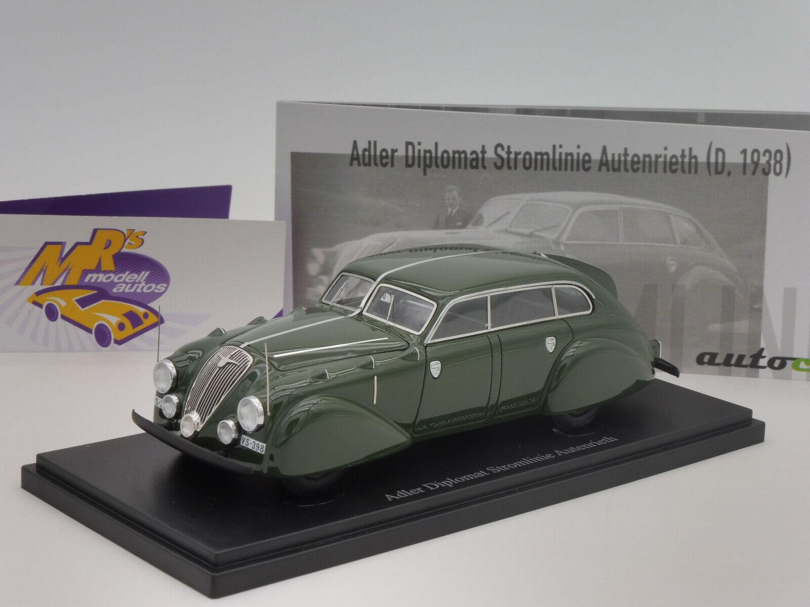 Envío rápido y el mejor servicio Autocult 04021   Adler diplomático electricidad línea línea línea Autenrieth año 1938 verde oscuro 1 43  promociones de equipo