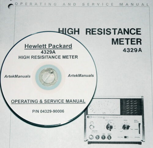 Hewlett Packard Operating /& Service Manual for the 4329A High Resistance Meter