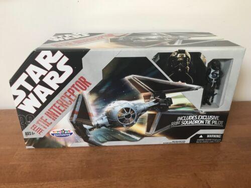 Star Wars TRU Exclusive Elite Tie Interceptor Fighter 30th aniversary collection