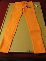 Women's Skinny Jeans Bullhead Color Orange Size 3